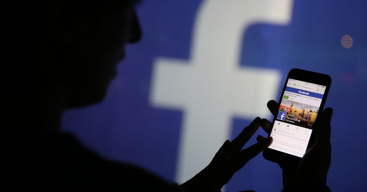 Ett ovanligt korkat Facebook-test