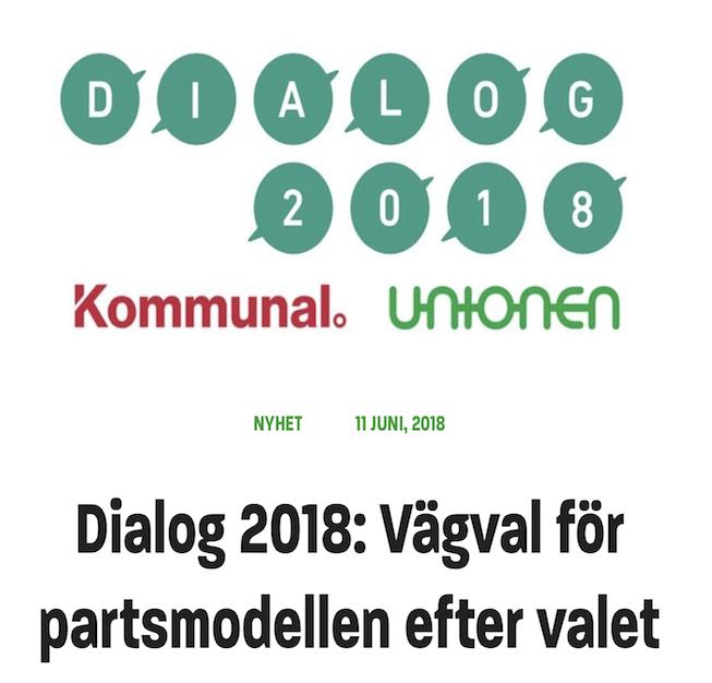Dialog 2018: Vägval för partsmodellen efter valet