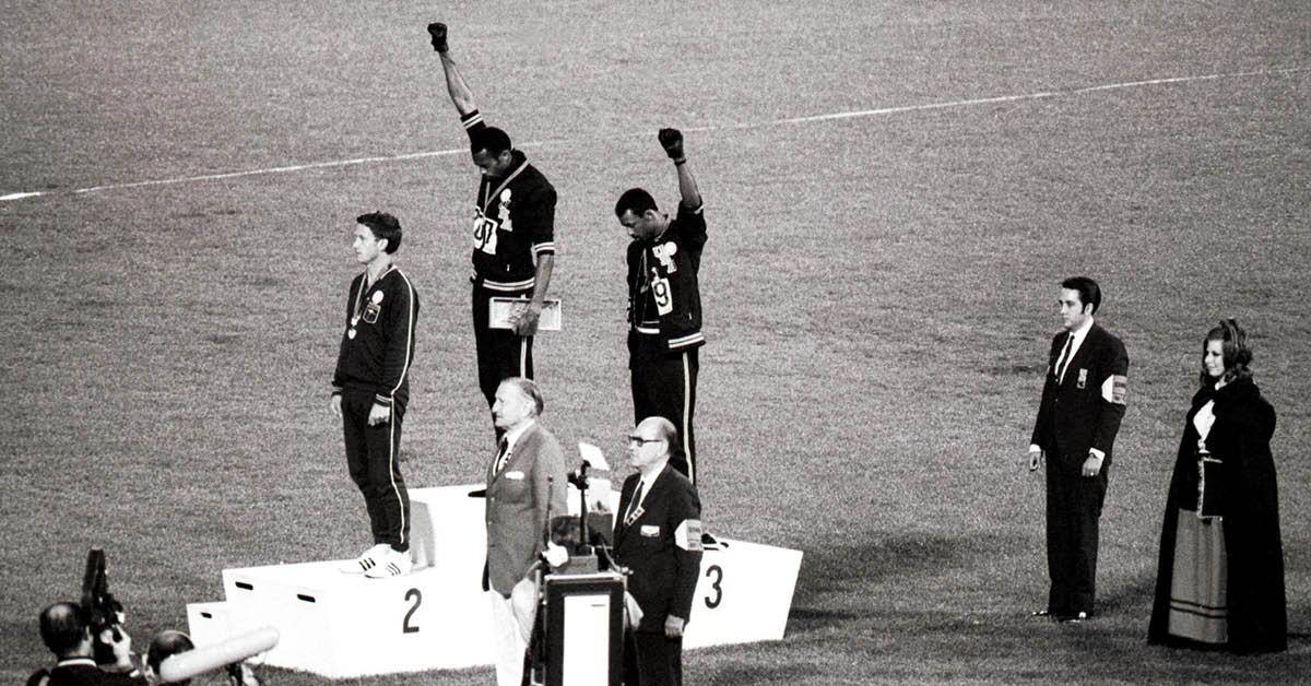 Svarta politiska idrottsprotester – då och nu
