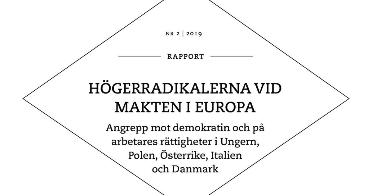 HÖGERRADIKALERNA VID MAKTEN I EUROPA